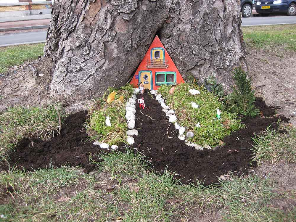 Kabouterhuisje Pothole-garden-gerenoveerd