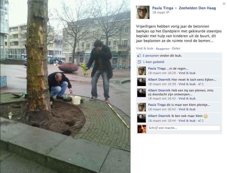 guerrilla gardeners Den Haag